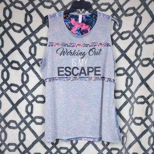 Ideology Working Out Is My Escape Top Gray 1x